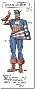 First Sketch of Captain America